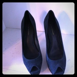 Elie Tahari Midnight Blue Kendra Pumps